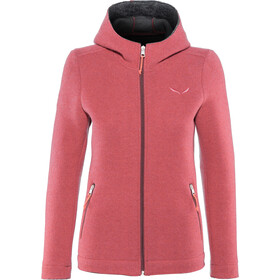 SALEWA Sarner 2 Layer Wool Full-Zip Hoodie Damen paradise pink